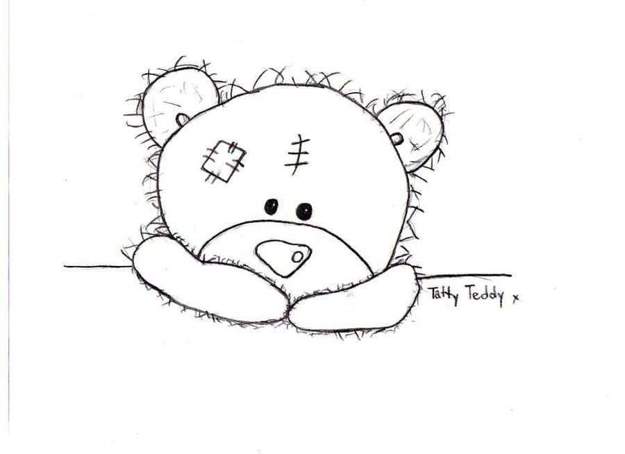 Tatty Teddy Colouring Pages Patroon Tekening Beertjes Patronen