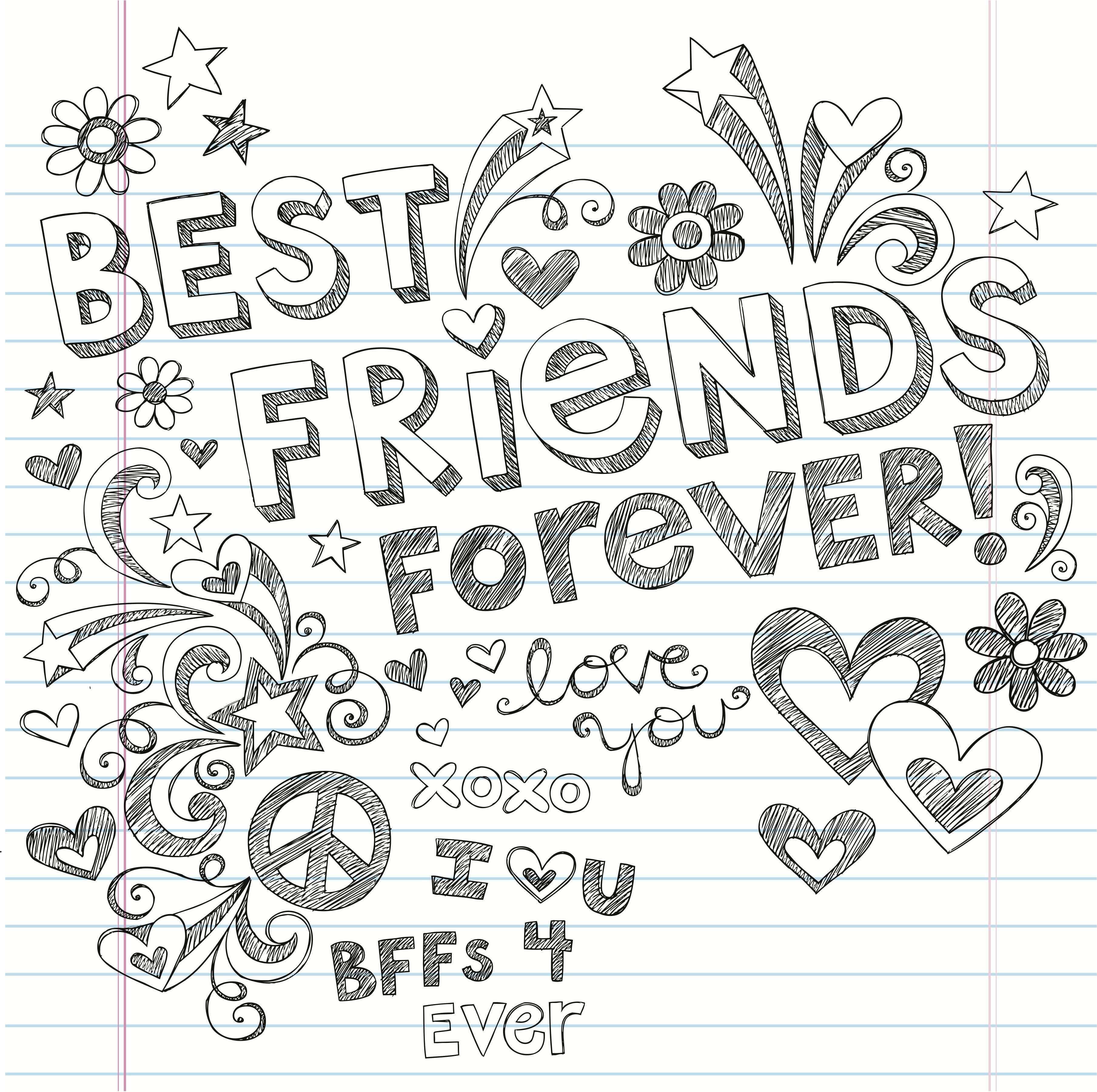 Kleurplaten Beste Vrienden