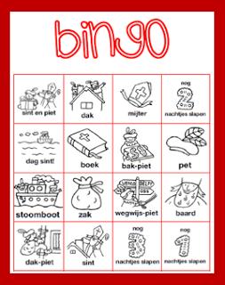 Groep 3 Sinterklaas Knutselen Sinterklaas Bingo