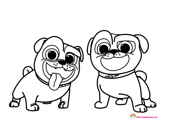 Disney S Puppy Dog Pal S Bingo And Rolly Coloring Page Rainbow Playhouse Coloring Pages For Kids Puppy Coloring Pages Toy Story Coloring Pages Coloring Pages