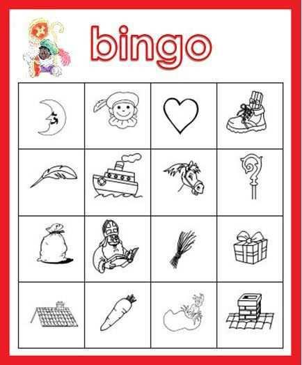 Kleuterjuf In Een Kleuterklas Plaatjes Bingo Thema Sinterklaas Sinterklaas Bingo Thema