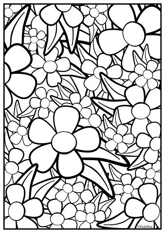 Meer Dan 200 Gratis Afbeeldingen Van Kleurplaat Bloemen En Kleurplaat Bloem Kleurplaten Kleurplaten Zomer Kleurplaten