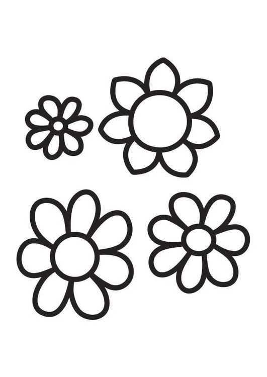 Coloring Page Flowers Img 18488 Bloem Kleurplaten Bloemensjabloon Bloemen Tekenen