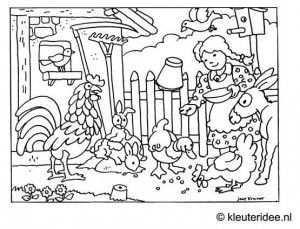 Kleuteridee Jaap Kramer Boerderij Thema Kinderboerderij Kleurplaten
