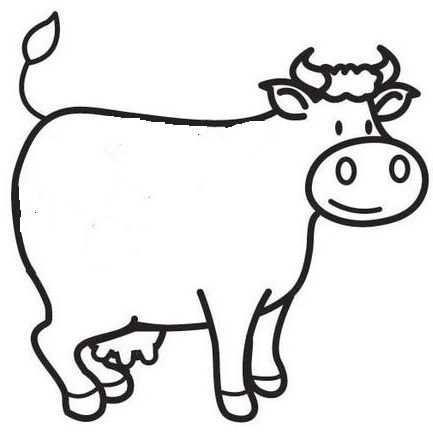 Kleurplaat Koe Boerderijdieren Boerderij Thema Koe