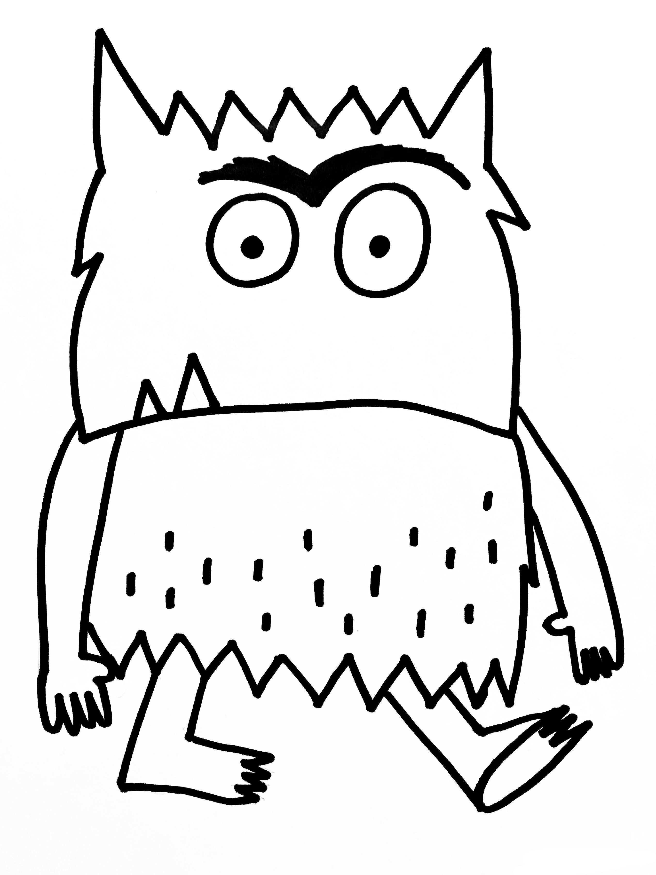 Kleurplaat Het Kleurenmonster Boos Monster Activiteiten Emoties Kleuterschool Thema