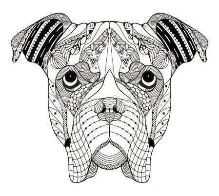 Http St2 Depositphotos Com 7254636 10021 V 450 Depositphotos 100219252 Boxer Dog Head Zentangle Stylized Jp Boxer Dogs Art Boxer Dog Tattoo Dog Coloring Page