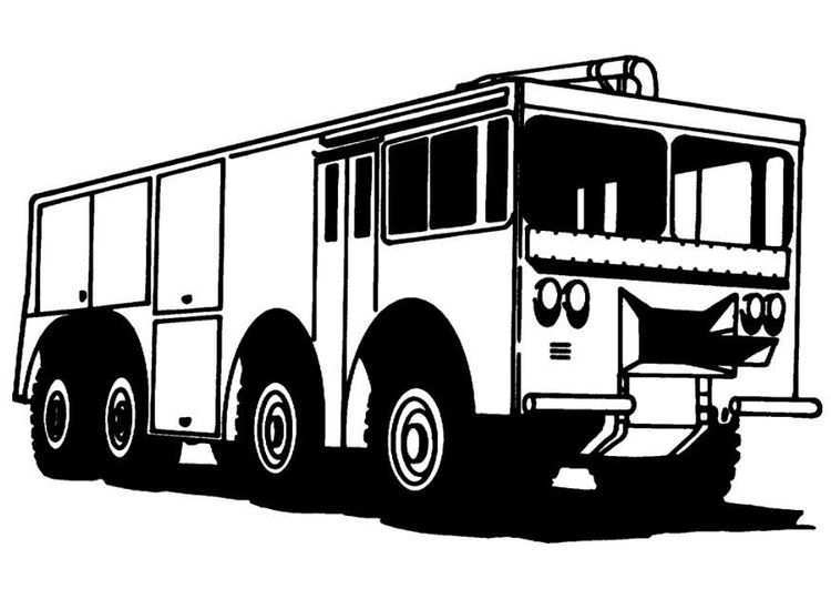 Kleurplaat Brandweerwagen Brandweerwagen Kleurplaten Gratis Kleurplaten