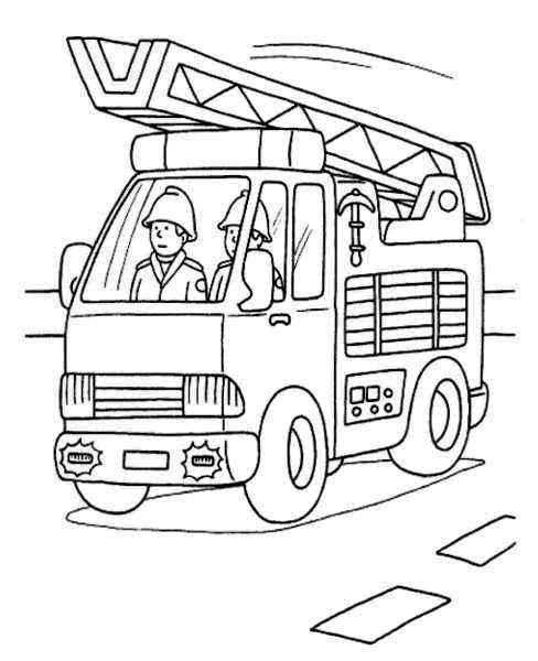 Kp Brandweerwagen Jpg 488 600 Pixels Brandweerauto Kinderkleurplaten Kleurplaten