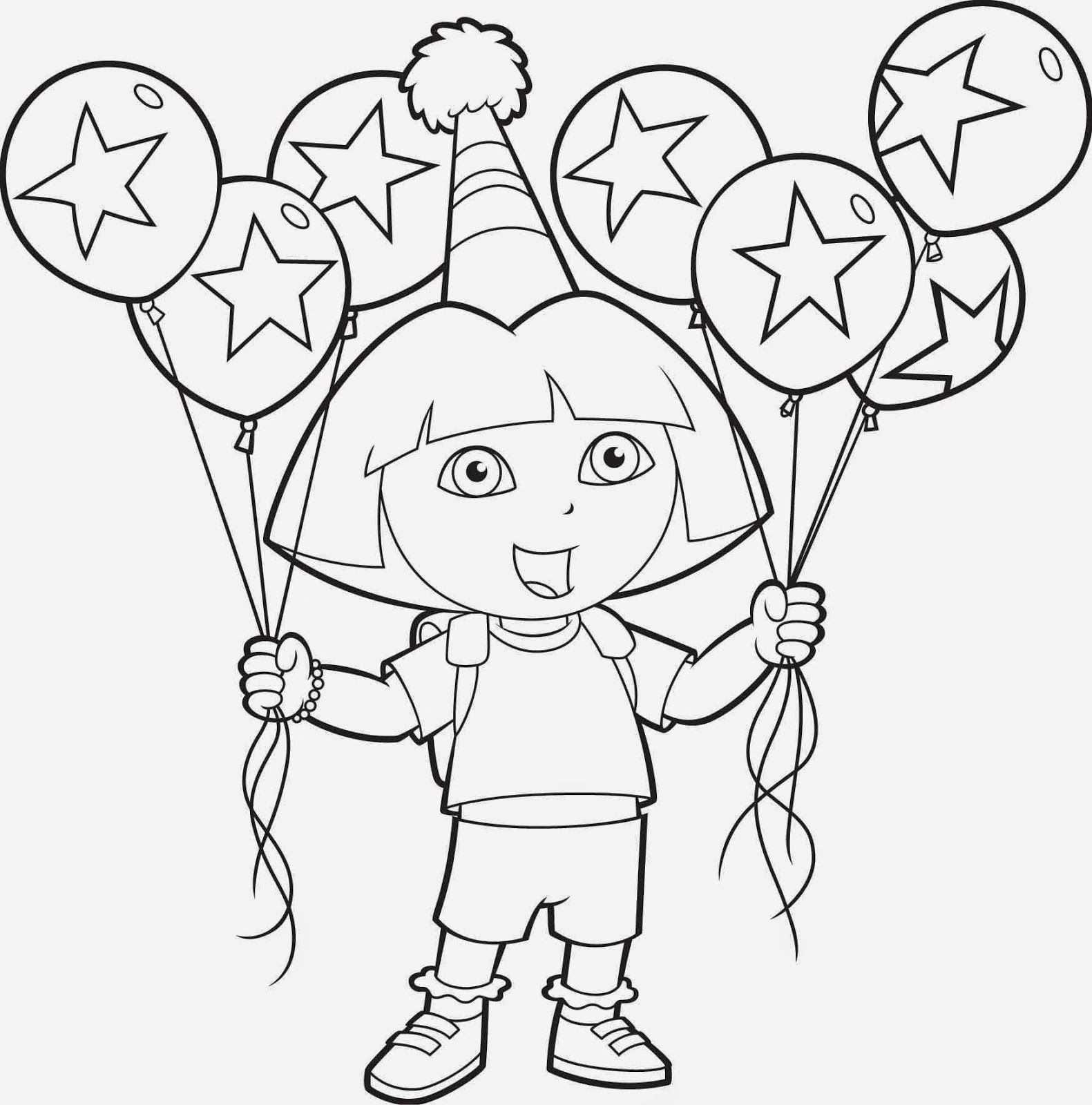 Afbeeldingen Van Dora Taarten Google Zoeken Kleurplaten Ballonnen Verjaardag