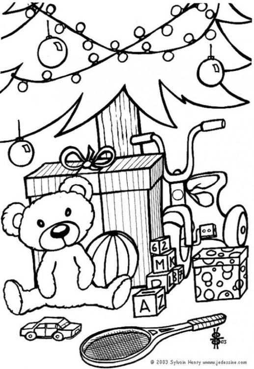 Kleurplaat Cadeautjes Onder De Kerstboom Afb 6433 Bear Coloring Pages Christmas Gift Coloring Pages Coloring Pages