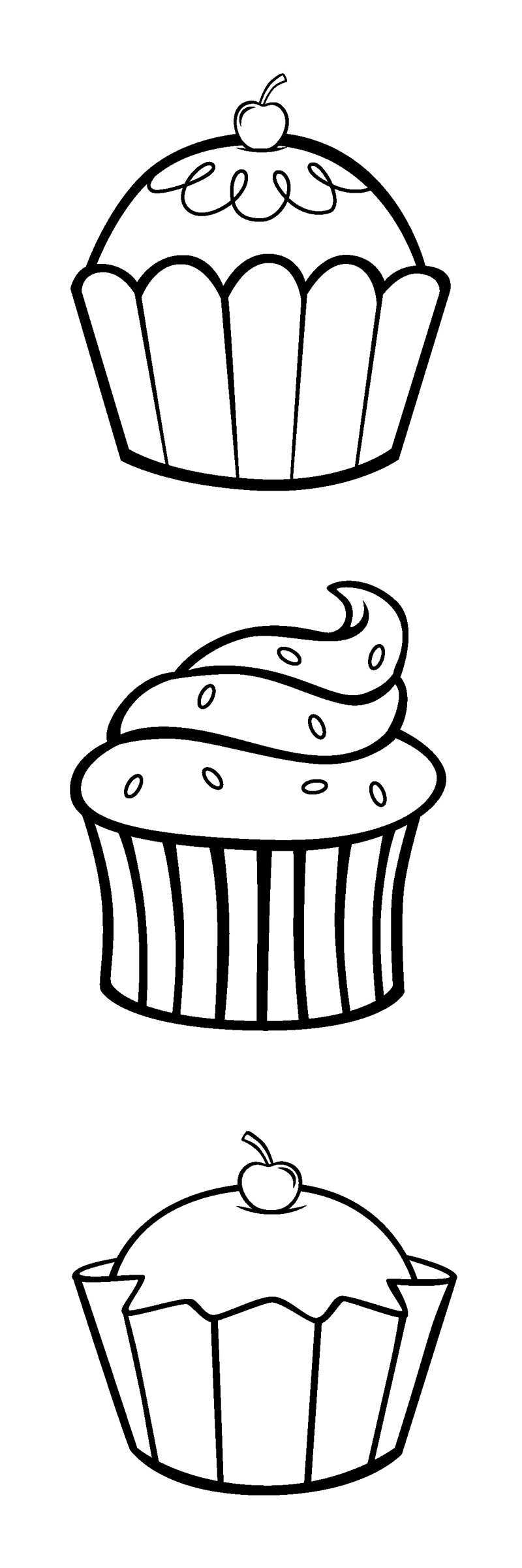 If You Can Print This Pic Of Cupcakes Cuz Their Easy And Fun To Colour Or Draw At All Ages Coloring Pages Embroidery Patterns Embroidery