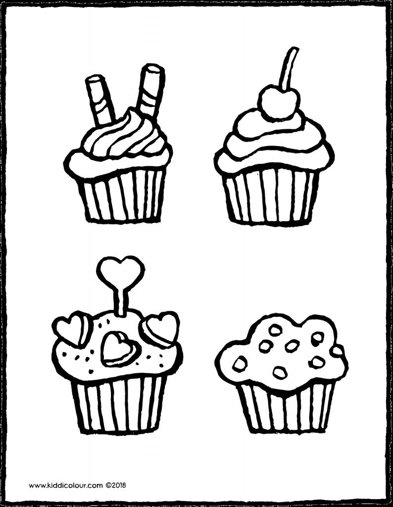 Eten Colouring Pages Pagina 4 Van 15 Kiddicolour In 2020 Knutselen Voor Pasen Cupcakes Thema