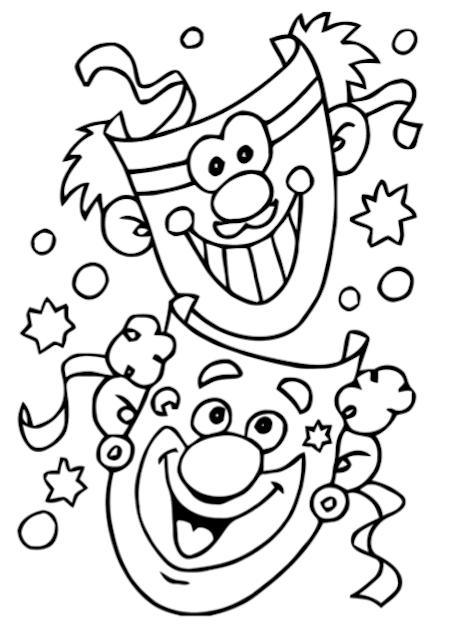 Carnaval Maskers Kleurplaat Klaarwerk Nl Ausmalbilder Fasching Karneval Handwerk Fasching Basteln