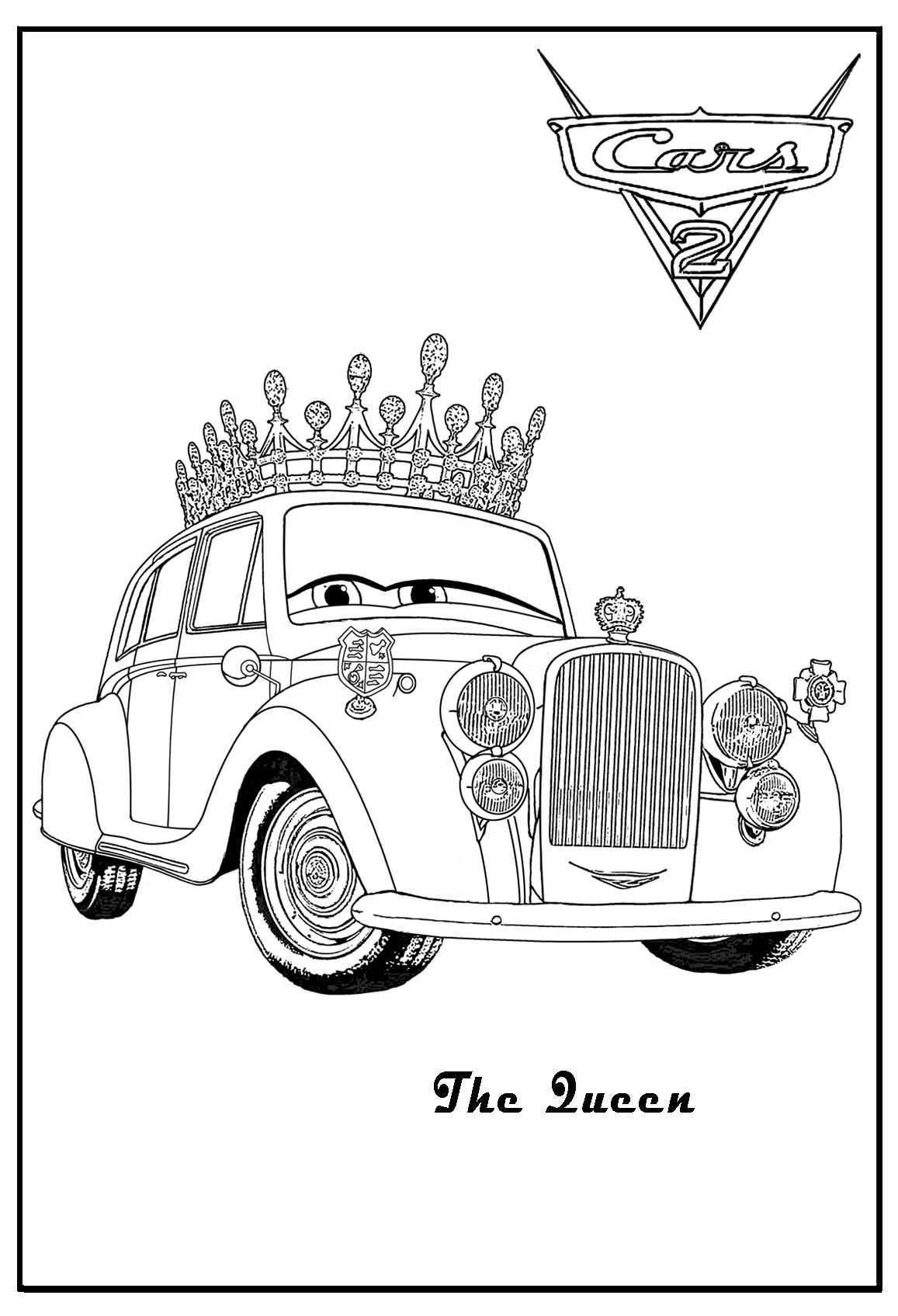 Cars 2 Printable Coloring Pages Cars Coloring The Queen Cars Coloring Luigi Cars Coloring Lamborgh Cars Coloring Pages Coloring Pages For Kids Coloring Pages