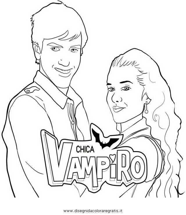 Coloriage Chica Vampiro Sketch Coloring Page In 2021 Coloring Pages Male Sketch Color