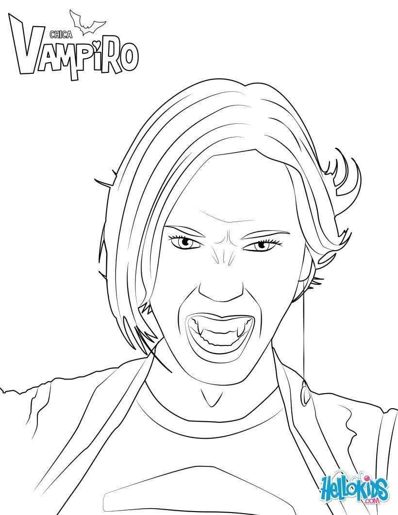 Zaira Fangoria Coloring Page From Chica Vampiro Tv Series More Chica Vampiro Coloring Sheets On Hellokids Com Coloring Pages Color Colorful Pictures