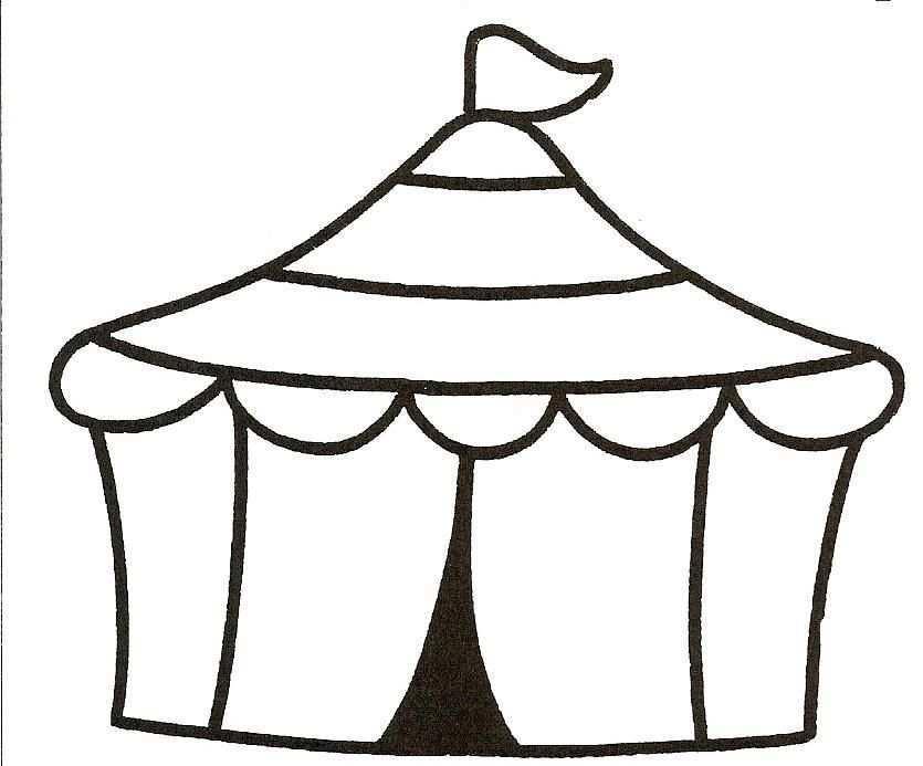 Kleurplaat Circustent Circus Circus Thema Kleuterschool Circus