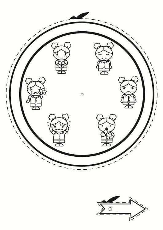 Kleurplaat Emotie Klok Kinderen Leren Terwijl Ze Kleuren Afbeeldingen Voor Scholen En Onderwijs Afb 2403 Emotions Feelings And Emotions Feelings Activities