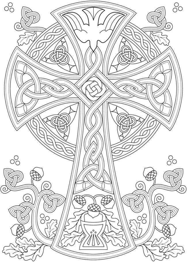 Your Description Cross Coloring Page Celtic Coloring Mandala Coloring Pages