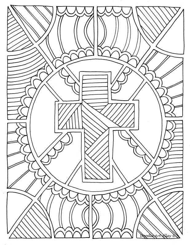 Easter Coloring Page Cross Coloring Page Christian Coloring Easter Coloring Pages