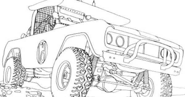 Jeep Off Road Coloring Page Off Road Car Car Coloring Pages Cars Coloring Pages Truck Coloring Pages Coloring Pages