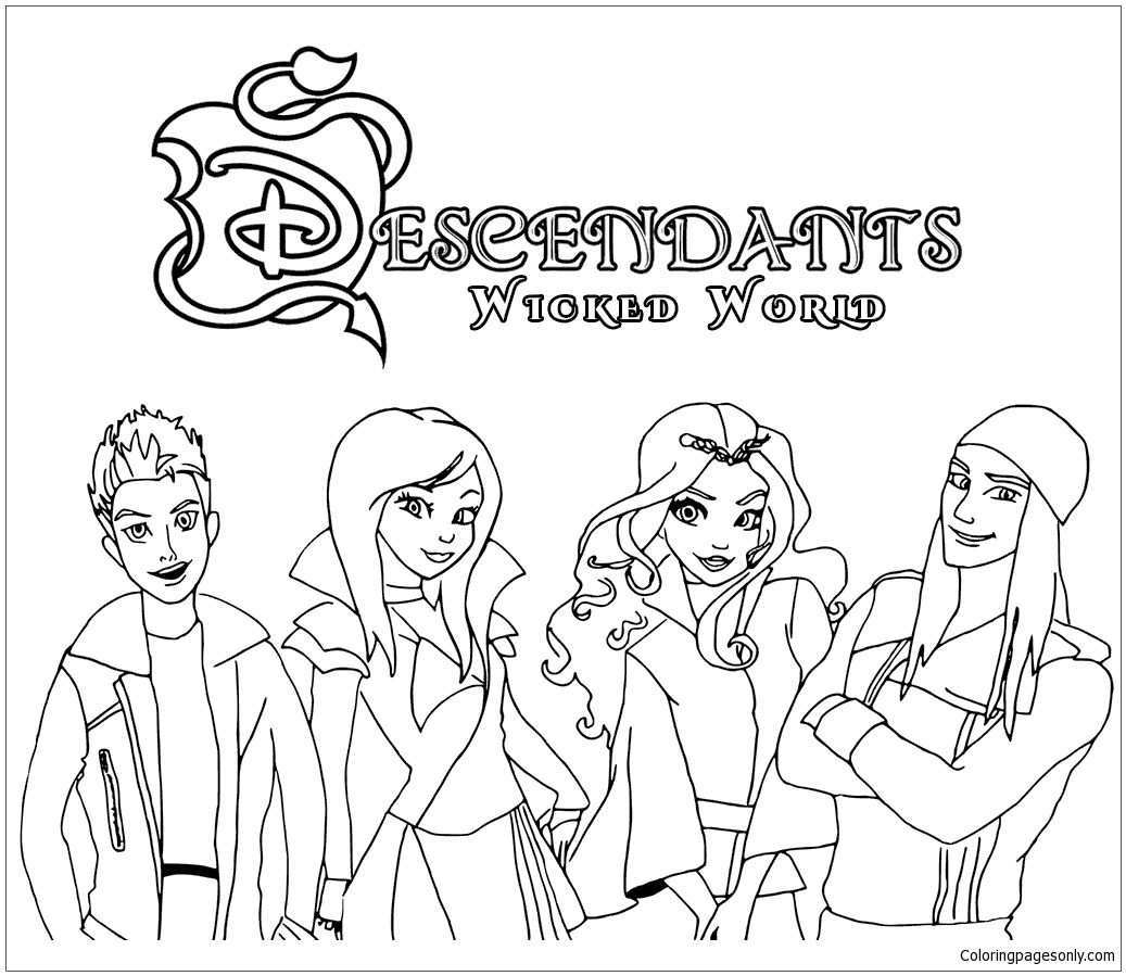 Pin On Descendants Coloring Pages