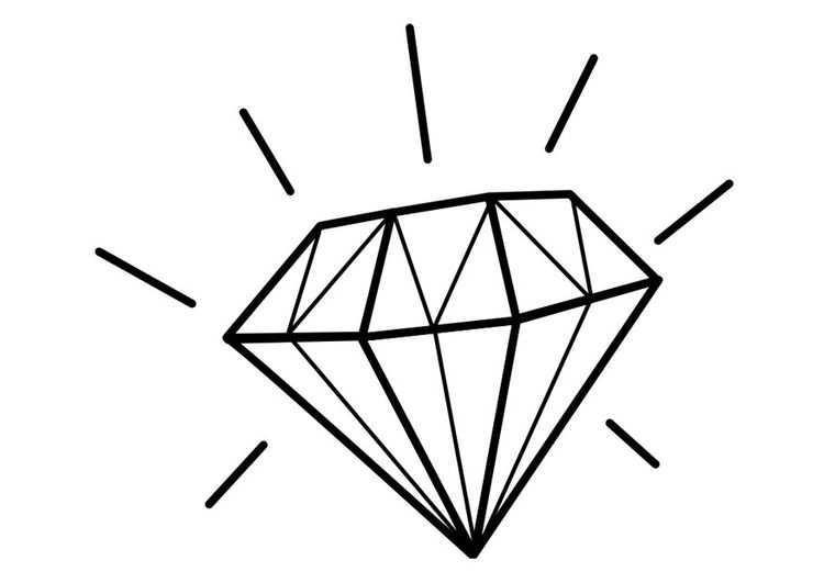 Kleurplaat Diamant Afb 22466 Tatoeage Diamant Diamant Tekening Tatoeageschetsen