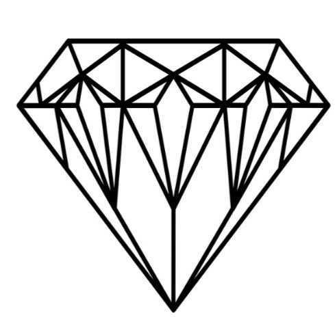 Pin By Alirezanabigol On Tattoo Geometric Diamond Tattoo Diamond Tattoo Designs Shape Coloring Pages