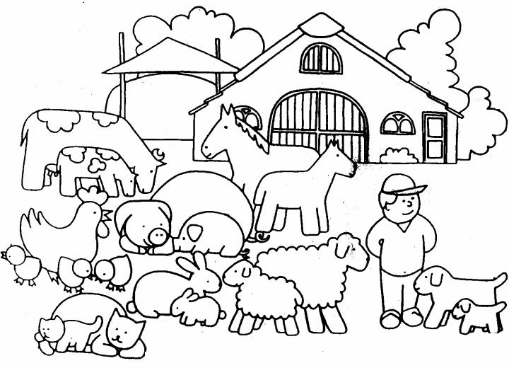 Afbeeldingsresultaat Voor Boerderijdieren Kleurplaat Boerderijdieren Thema Boerderij