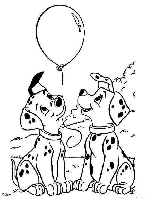 Kids N Fun Kleurplaat 101 Dalmatiers 101 Dalmatiers Kleurboek Kleurplaten Voor Volwassenen Dieren Kleurplaten