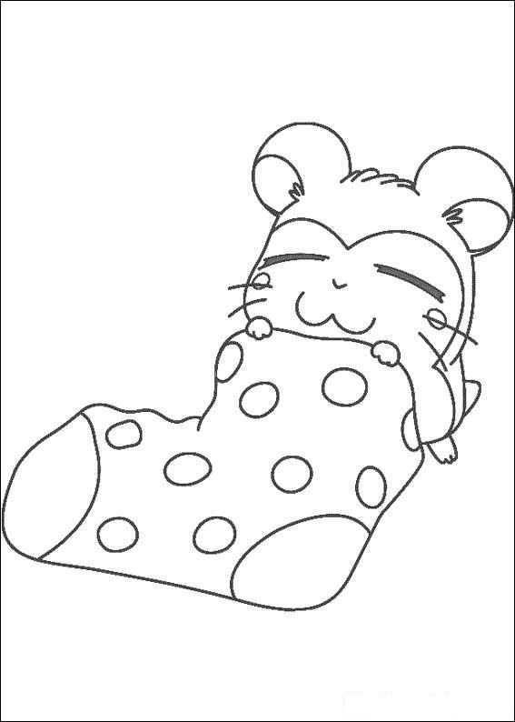 Slapen In Een Sok Kleurplaat Kleurboek Kleurplaten Kinderkleurplaten