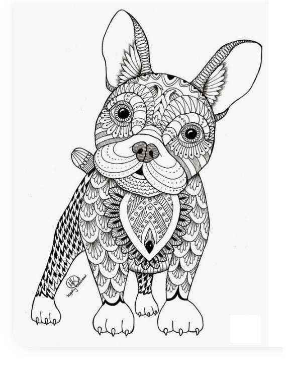 Mindfulness Hond Kleurplaat Mandala Kleurplaten Kleurplaten Kleurboek