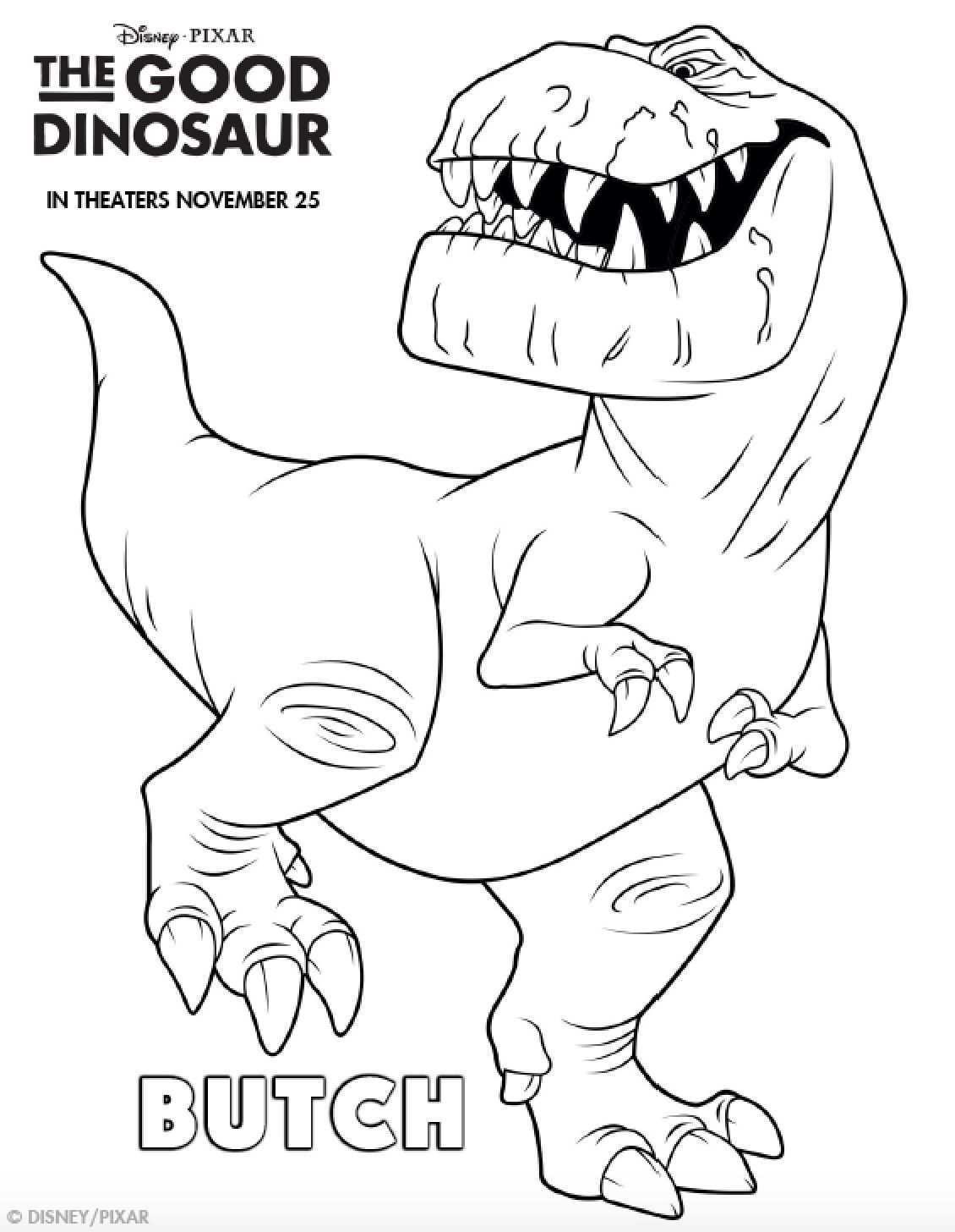 Pin Op The Good Dinosaur Kleurplaten