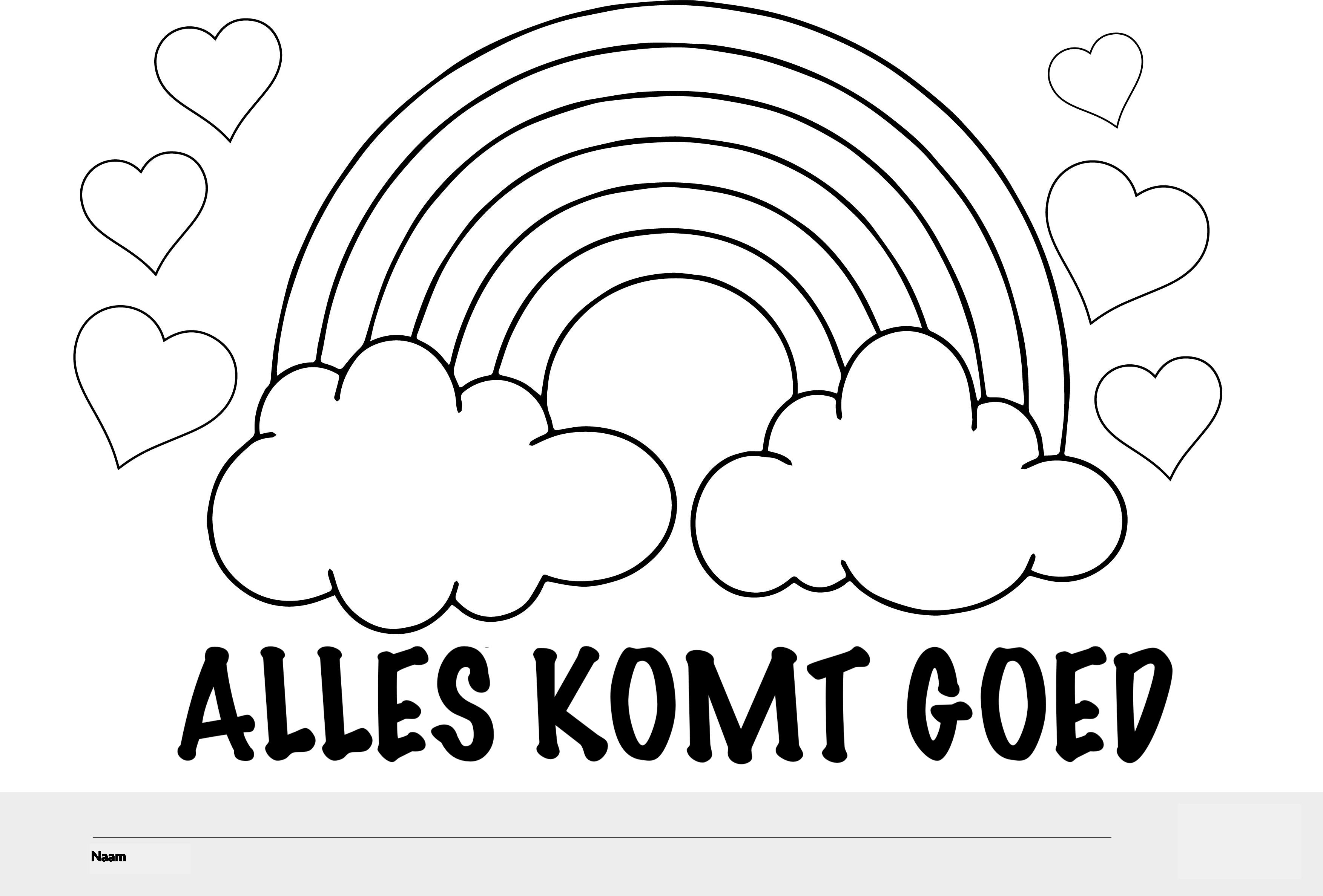 Pin Van Mies Frieda Op Creakato Regenboog Kleurplaten Knutselen