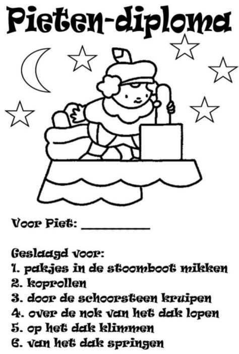 Sinterklaas Knutselidee Pietendiploma Sinterklaas Knutselen Sinterklaas Diy Sinterklaas