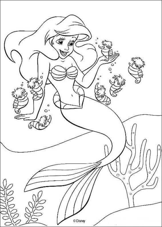 Coloring Page Ariel The Little Mermaid Ariel The Little Mermaid Prinses Kleurplaatjes Mandala Kleurplaten Disney Kleurplaten