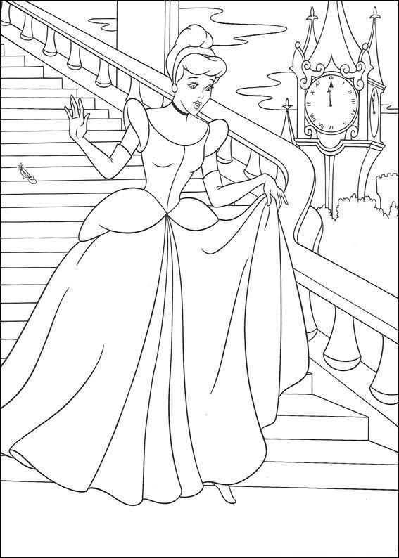 Kids N Fun Coloring Page Cinderella Cinderella Prinses Kleurplaatjes Kleurplaten Assepoester