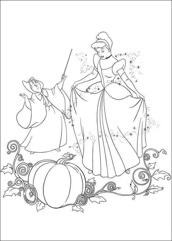 Kleurplaat Assepoester Assepoester Danst Met De Prins Prinses Kleurplaatjes Boek Bladzijden Kleuren Kinderkleurplaten
