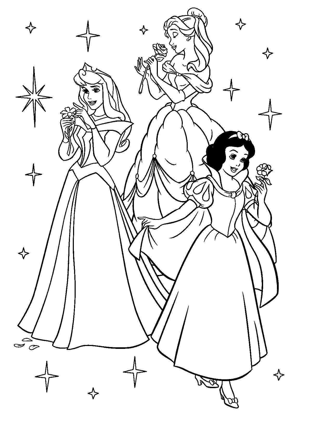 Disney Prinsessen Kleurplaten Disney Kleurplaten Prinsessen