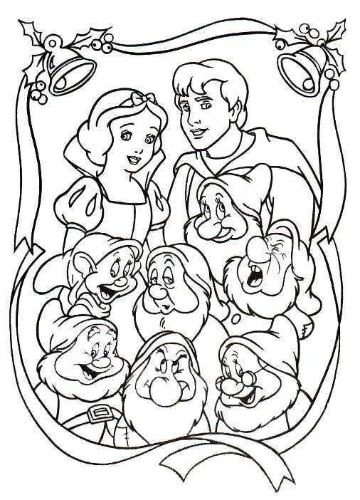 Kids N Fun Kleurplaat Kerstmis Disney Kerstmis Disney Prinses Kleurplaatjes Kerstkleurplaten Kleurplaten