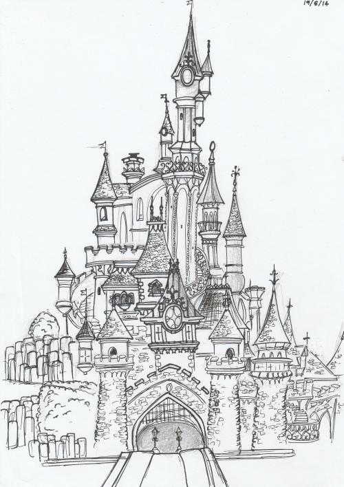 Paris Disneyland Beast Castle Disney Castle Drawing Disney Art Drawings Castle Sketch