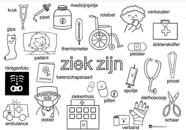 Pin Van Miss Doelman Op Dokter Logo 3000 4 Thema Alfabet Kleurplaten Kleuterklas
