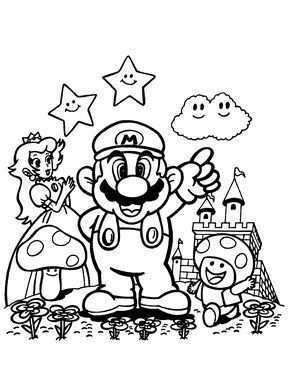 Prinses Paddestoel En Mario Kleurboek Kleurplaten Kleurplaten Voor Kinderen