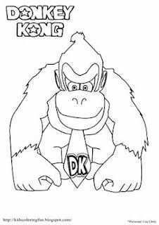 Donkey Kong Coloring Pages Donkey Kong Donkey Kong Party Coloring Pages