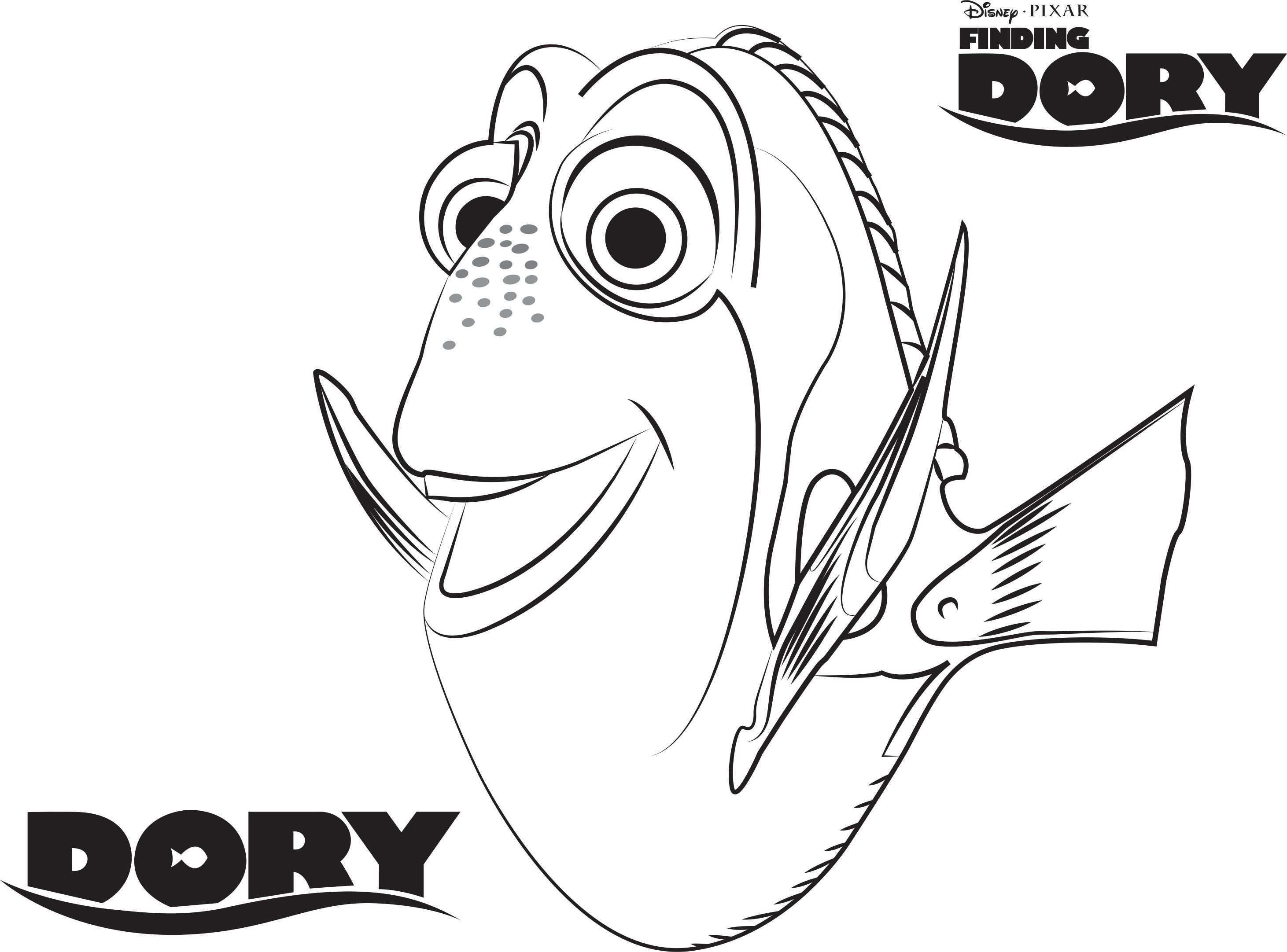 Finding Dory Kleurplaten Dory Kleurplaten Gratis Kleurplaten Pixar Films