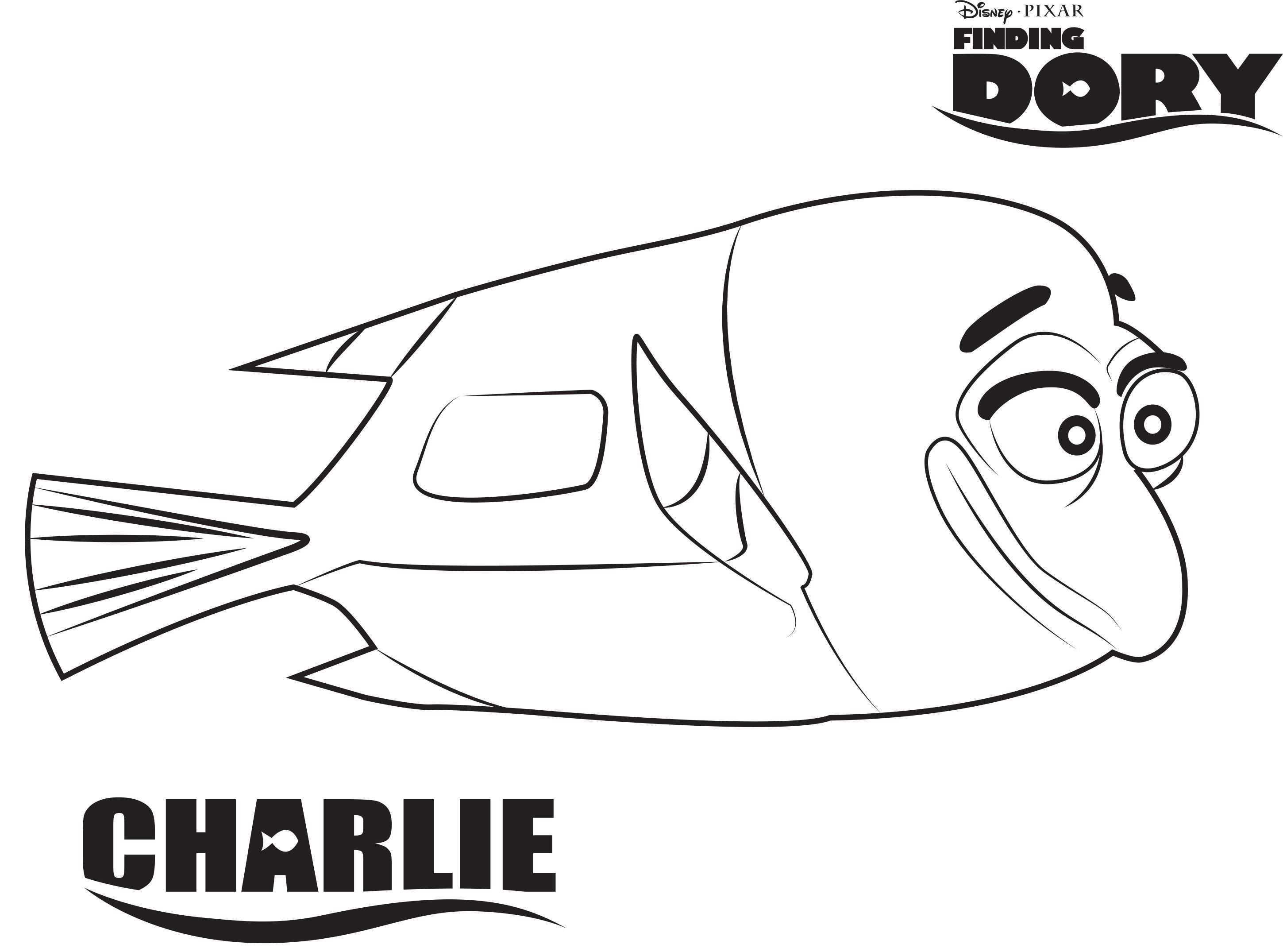 Finding Dory Kleurplaten Charlie Nemo Coloring Pages Coloring Books Finding Nemo Coloring Pages