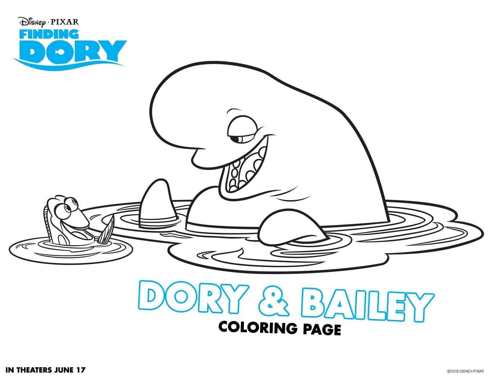 Disney Pixar S Finding Dory Dives Into Theatres June 16 In 3d Kleurplaten Gratis Kleurplaten Finding Nemo