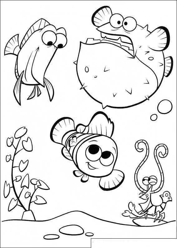 Kleurplaat Finding Nemo De Film Met Meneer Ray Naar School Kleurboek Dieren Kleurplaten Kleurplaten