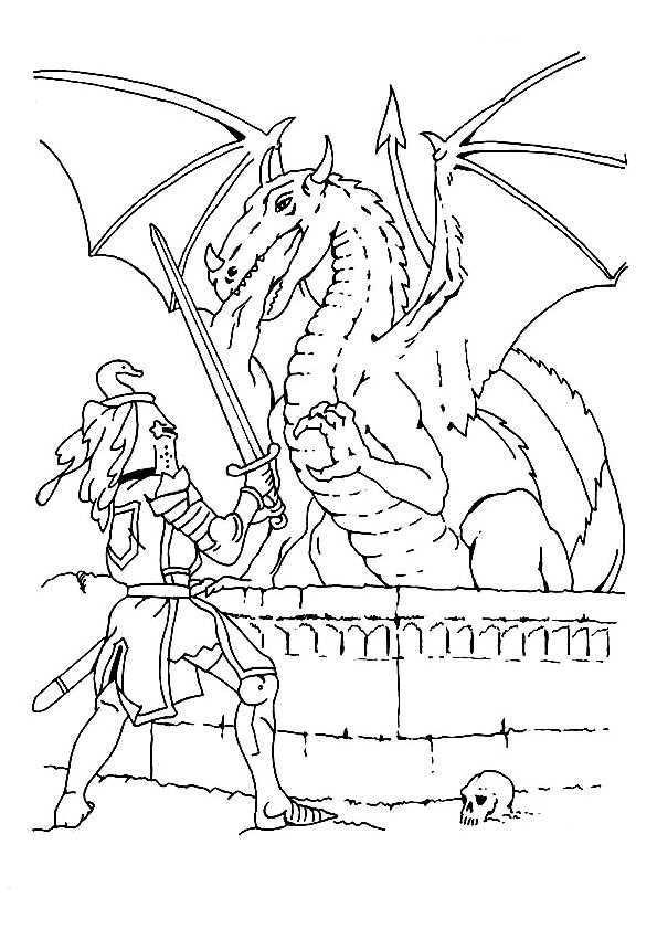 Kleurplaat Draak Ridders Gratis Kleurplaten Dieren Kleurplaten